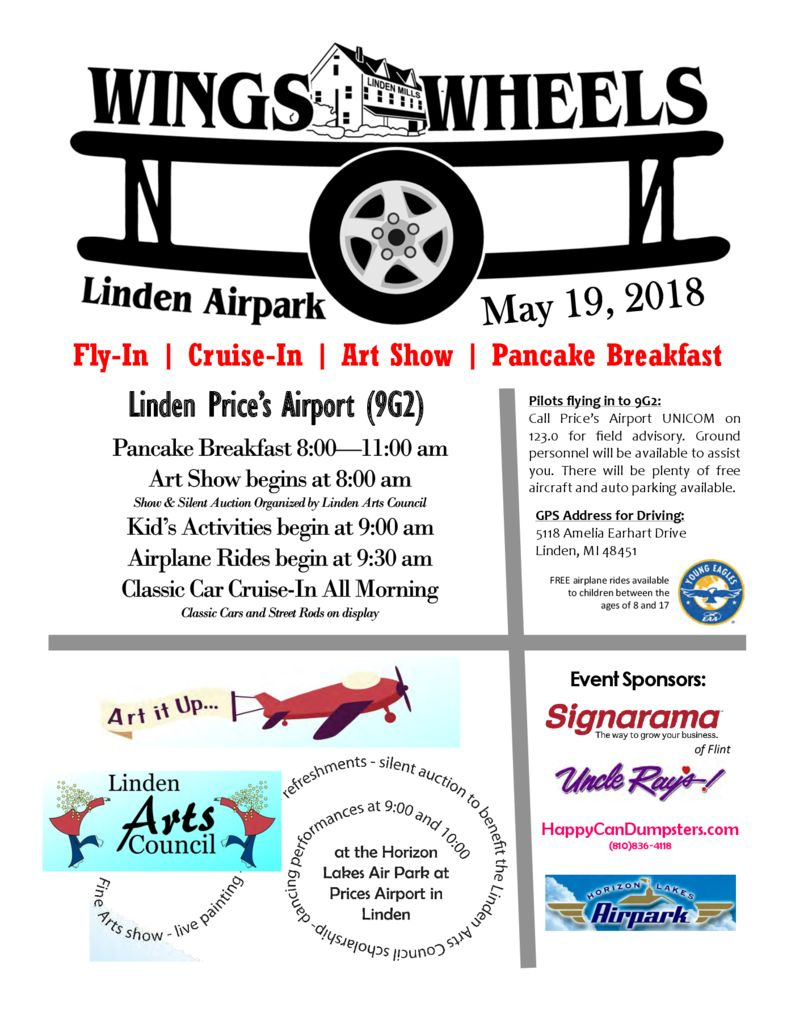 Wings and Wheels Flyer 2018